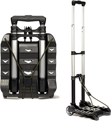 4. RMS Folding Luggage Cart - Lightweight Aluminum Collapsible and Portable Fold Up Dolly for Travel, Moving and Office Use