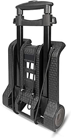 8. WYNK Luggage Cart with Wheels Folding Hand Truck with Bungee Cord, Compact and Lightweight Utility Aluminum Alloy Cart