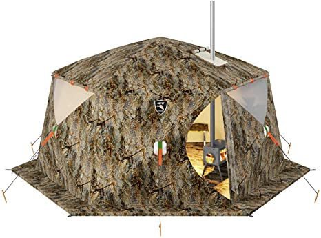 4. Russian-Bear Hot Tent with Stove Jack - Camping Hunting Ice Fishing Outfitter Cold Weather Tent - All 4 Season
