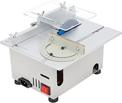 6. Huanyu Mini Table Saw Multifunctional Liftable Blade 6T with Miter Gauge 300W Power DIY Woodworking Handmade Tool 885 Motor