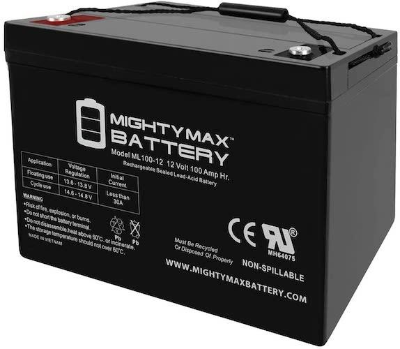 4.Mighty Max Battery 12V 100AH Battery for Solar Wind DEEP Cycle VRLA 12V 24V 48V Brand Product