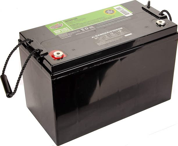 7.Interstate Batteries 12V 110 AH SLA/AGM Deep Cycle Battery for Solar, Wind, and RV Applications - Insert Terminals (DCM0100)