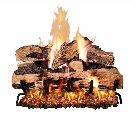 3.Peterson Real Fyre 24-inch Split Oak Designer Plus Gas Logs (Logs Only, No Burner)