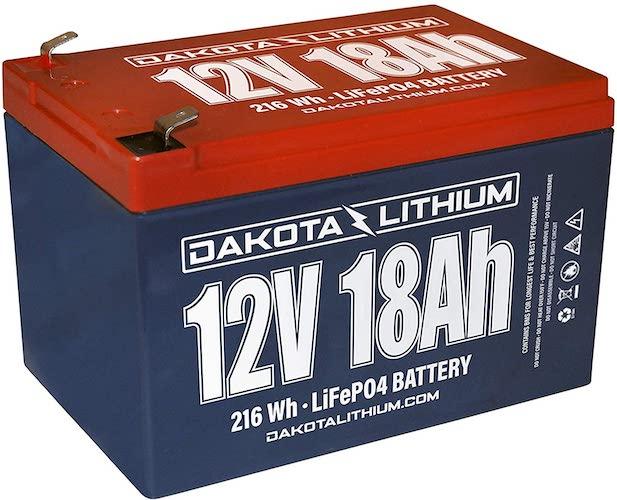 6.Dakota Lithium   12V 18Ah LiFePO4   11 Year USA Warranty 2000+ Deep Cycle Battery